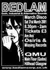 Bedlam Goth Club Flyer